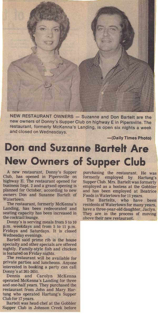 Donny and Sue Bartelt