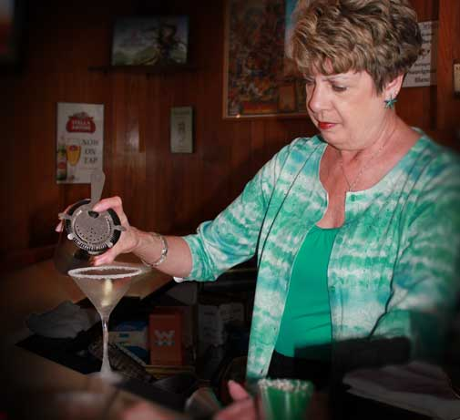 Sue is a mixology master at Donny's Girl Supper Club